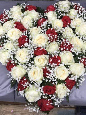 Mixed Rose Heart arrangement