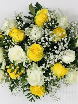 Yellow & White Rose Arrangement