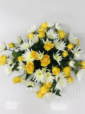 Yellow  Rose  Grave Arrangement
