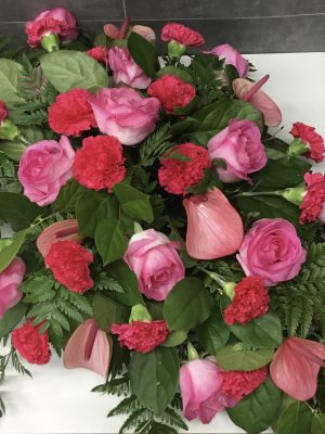 Large Mixed Rose  Grave Arrangement