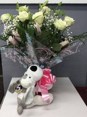 teddy bear Rose hug box