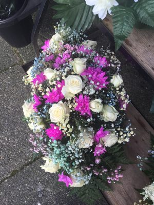 Mothers Day Double Ended Grave Arrangement
